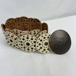 Fossil | Studded Leather Disk Belt